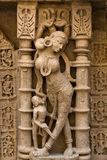 Señora Idol talló en piedra en el vav del ki de Rani Foto de archivo libre de regalías