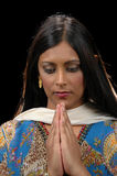Señora india en el att tradicional fotos de archivo