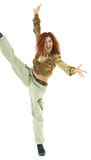 Señora joven aerobia Imagenes de archivo