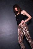 Señora joven de moda Foto de archivo libre de regalías