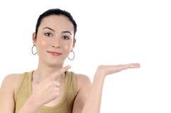 Señora joven del asunto que destaca en el copyspace Fotos de archivo