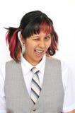 Señora joven divertida Foto de archivo