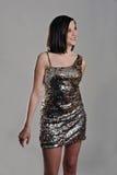 Señora joven en vestido de noche Fotos de archivo