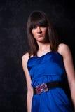 Señora joven fina de moda Foto de archivo libre de regalías
