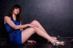 Señora joven fina de moda Imagen de archivo libre de regalías
