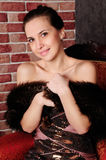 Señora joven hermosa foto de archivo libre de regalías