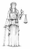 Señora Justice ilustración del vector