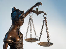 Señora Justice - Temida - Themis Foto de archivo