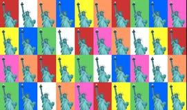 Señora Liberty Color Collage Fotografía de archivo