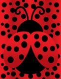 Señora linda Bug en la polca Dot Background ilustración del vector