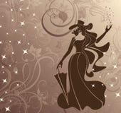 Señora Magic stock de ilustración