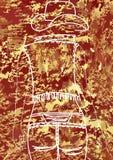 Señora marrón de los vaqueros estilo del vaquero foto de archivo libre de regalías