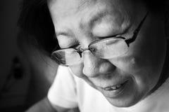 Señora mayor asiática Imágenes de archivo libres de regalías