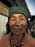 Señora mayor con la arruga Fotografía de archivo