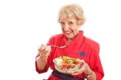 Señora mayor - consumición sana imágenes de archivo libres de regalías