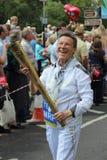 Señora mayor en carnaval Fotos de archivo libres de regalías