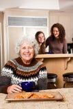 Señora mayor en el país Fotografía de archivo libre de regalías