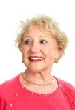 Señora mayor hermosa Looking Away Fotos de archivo libres de regalías