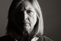 Señora mayor infeliz Fotos de archivo libres de regalías