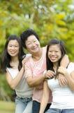 Señora mayor y sus hijas Fotografía de archivo libre de regalías