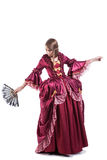 Señora medieval de las épocas vestida en retro elegante Imagen de archivo