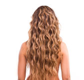 Señora morena joven con un pelo hermoso Imágenes de archivo libres de regalías