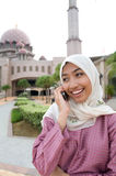 Señora musulmán malaya asiática hermosa y dulce imagen de archivo libre de regalías