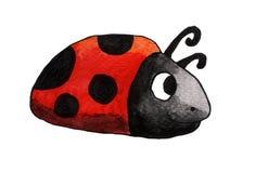 Señora muy feliz Bug de la acuarela libre illustration