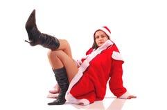 Señora Papá Noel Fotografía de archivo libre de regalías