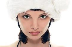 Señora Papá Noel de la belleza Foto de archivo libre de regalías