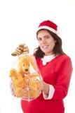 Señora Papá Noel embarazado imágenes de archivo libres de regalías