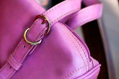 Señora Pink Bag Foto de archivo