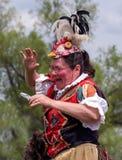Señora rara del pollo Fotografía de archivo