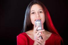 Señora In Red Imagen de archivo