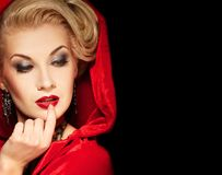 señora rubia atractiva. Imagen de archivo libre de regalías
