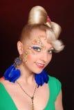 Señora rubia linda feliz Foto de archivo