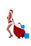 Señora Santa la Christmas Fotos de archivo