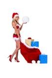 Señora Santa la Christmas Imagenes de archivo