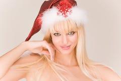 Señora sensual Santa Fotos de archivo libres de regalías