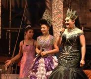 Señora Singer y concierto tailandés del estilo de los bailarines Fotografía de archivo libre de regalías