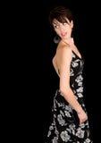 Señora triguena hermosa Looking Back Imagenes de archivo