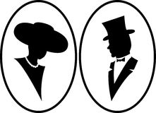Señora y caballero Imágenes de archivo libres de regalías