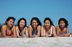 Señoras de la playa Fotografía de archivo
