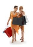 Señoras de las compras imagen de archivo libre de regalías