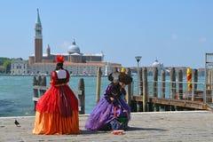 Señoras de Venecia Foto de archivo