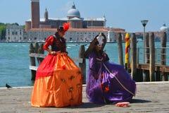 Señoras de Venecia Imágenes de archivo libres de regalías