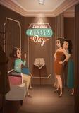 Señoras en el centro comercial de vestido Foto de archivo
