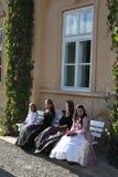 Señoras jovenes barrocas Foto de archivo