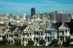 Señoras pintadas, cuadrado de Álamo, San Francisco Fotografía de archivo libre de regalías