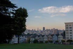 Señoras pintadas San Francisco, los E.E.U.U. fotografía de archivo